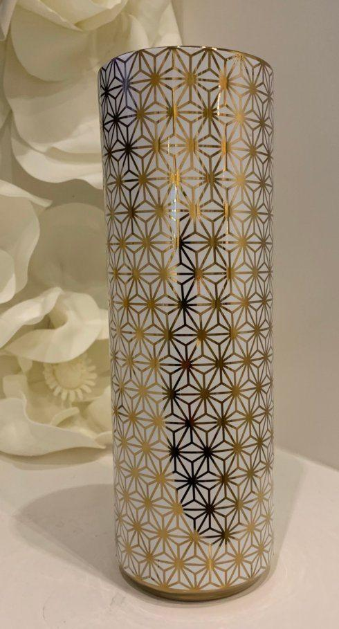 "12"" White/Gold Geometric vase collection with 1 products"