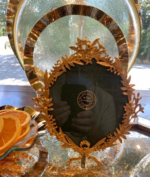 $189.00 Elias Oval Frame w/ Floral Detail