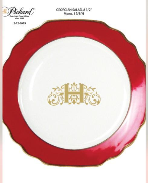 Pickard Monogram Salad Plate collection with 1 products