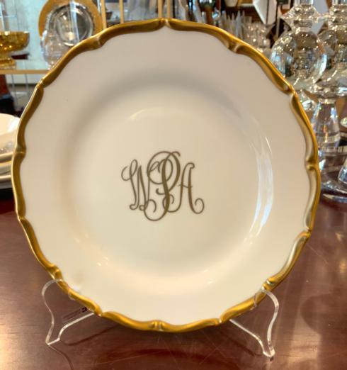 $68.00 Pickard Birmingham Monogram Salad Plate