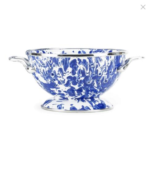 Cobalt Blue Swirl Petite 1 qt. Colander collection with 1 products