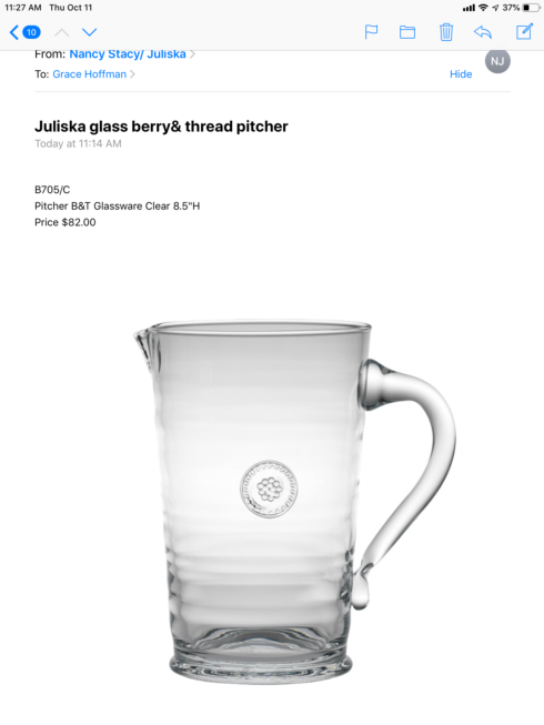 Grace pitcher collection with 1 products