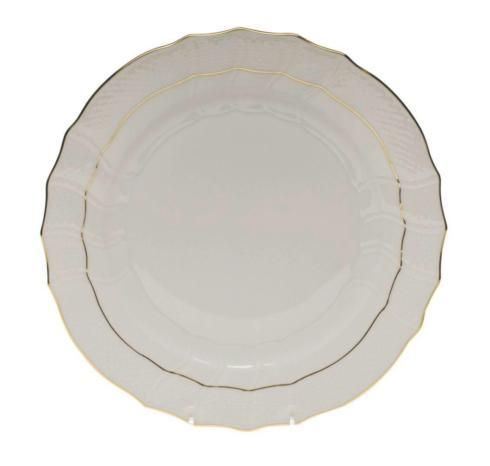 $80.00 Herend Golden Edge Dessert Plate/Monogrammed