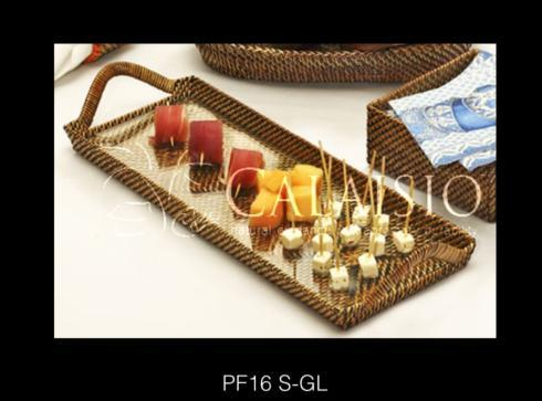 Calaisio 8.5 x 20 hand woven serving tray collection with 1 products