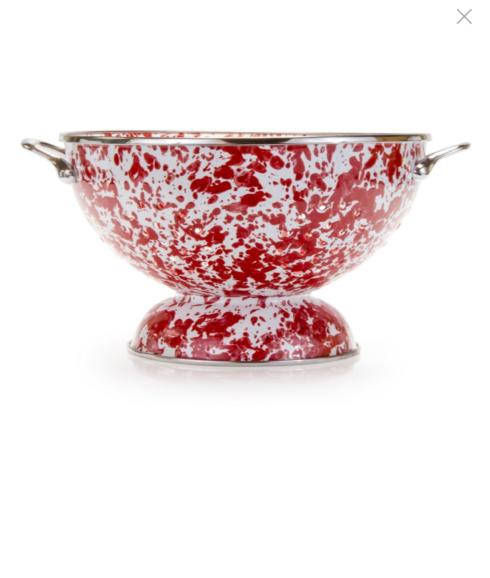 Large Red Swirl Colander collection with 1 products