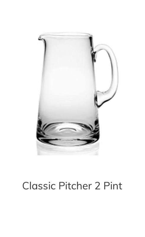 William Yeoward   William Yeoward 2 pint Pitcher $120.00