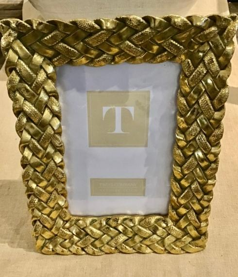$28.00 Gold Woven Picture Frame