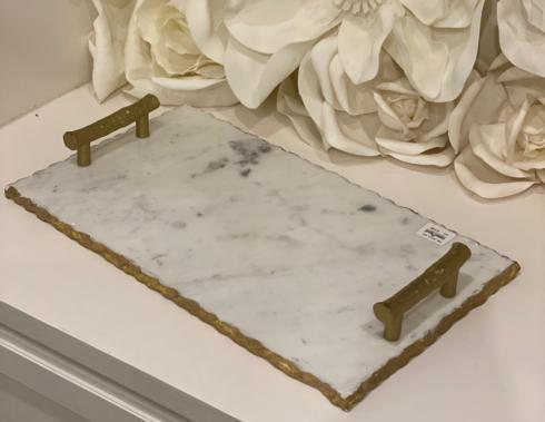 $72.00 Marble Platter with Handles