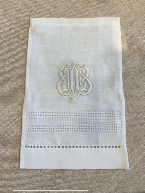 $36.00 Monogrammed Linens CocktailNapkin Napkins/Set of 4