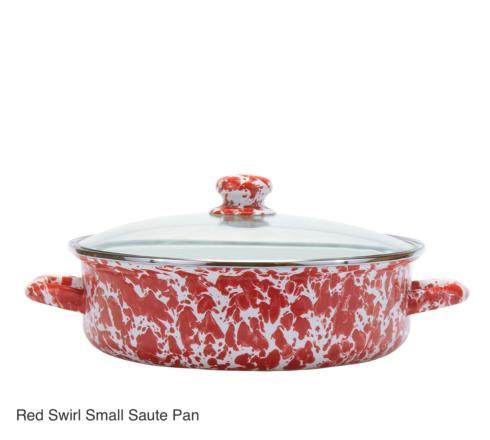 $54.00 Small Red Swirl Saute Pan