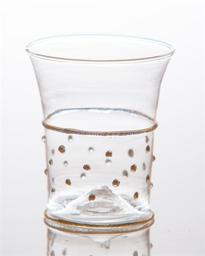 Abigails   Gatsby Tumbler, Gold with Dots $20.00