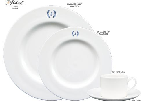 $60.00 Pickard Signature Dinner Plate with Monogram