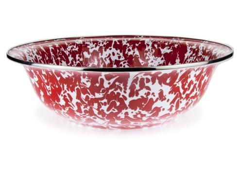 Golden Rabbit   Red/White Enamel Serving Bowl $40.00