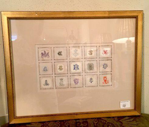 Trove Exclusives   Antique Monogram Collection $195.00