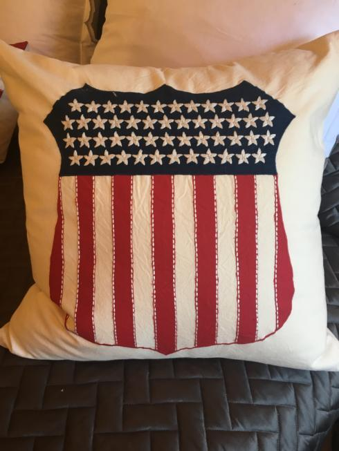 $120.00 Liberty Shield Pillow