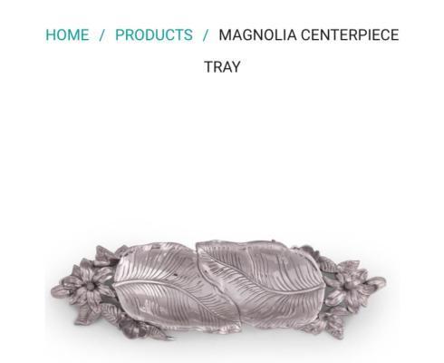 $115.00 Magnolia Centerpiece Tray