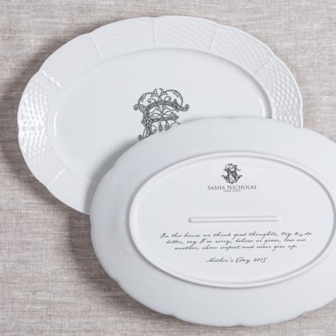$172.00 Weave Monogrammed Oval Platter