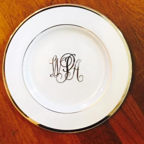 Trove Exclusives   Pickard Signature Salad Plate- Monogram $59.00
