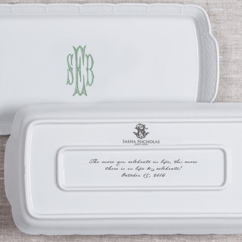 $158.00 Weave Monogrammed Hostess Rectangle Platter