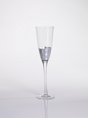 $21.00 Silver Leaf Champagne Flute
