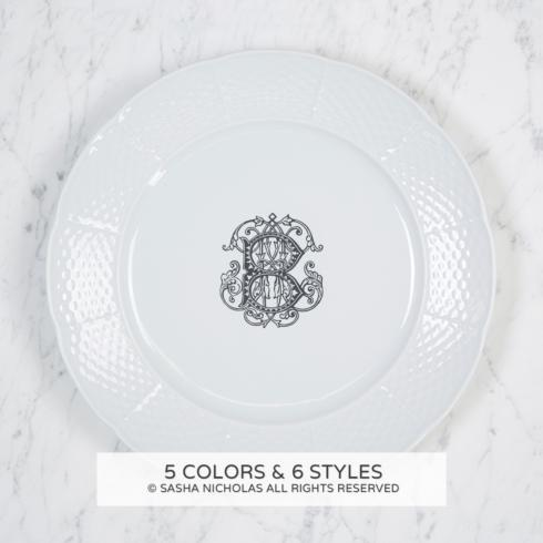 $58.00 Weave Dinner Plate with Monogram