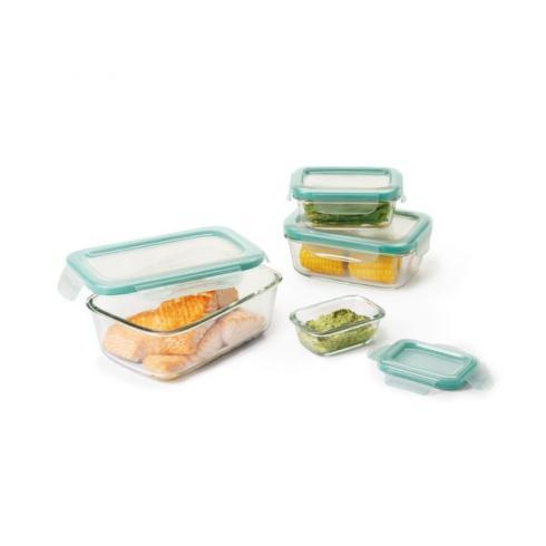OXO   8 Piece Snap Glass Rect. Set $29.99