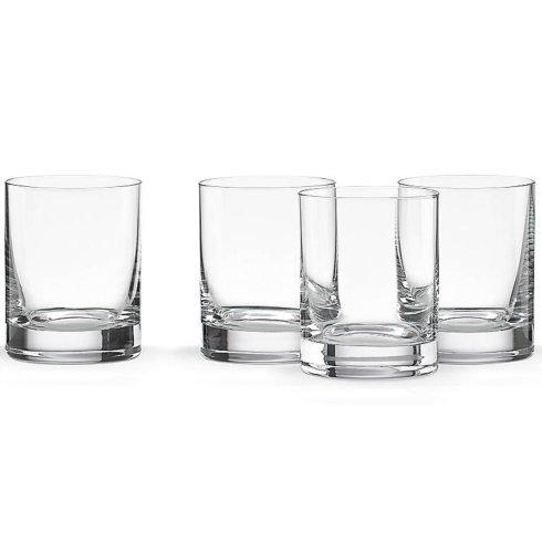 $40.00 Tuscany Cylinder Double Old Fashion Glasses Set of 4