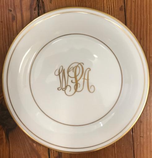 $59.00 Monogram Necklace Salad Plate