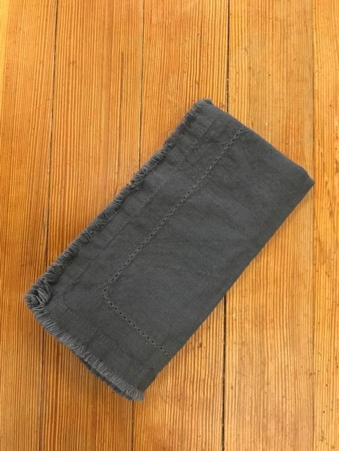 Park Haus Exclusives   Grey Blue Frayed Napkin $8.50