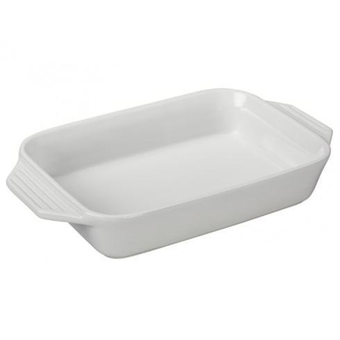 $50.00 White Medium Rectangle Baker