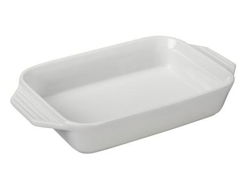 $80.00 White Large Rectangle Baker