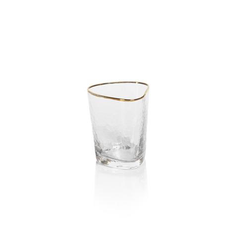 Zodax   Aperitivo Triangular DOF Glass w/Gold Rim $13.00