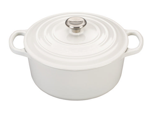 Le Creuset   White Signature Round Dutch Oven, 5.5 Qt. $360.00