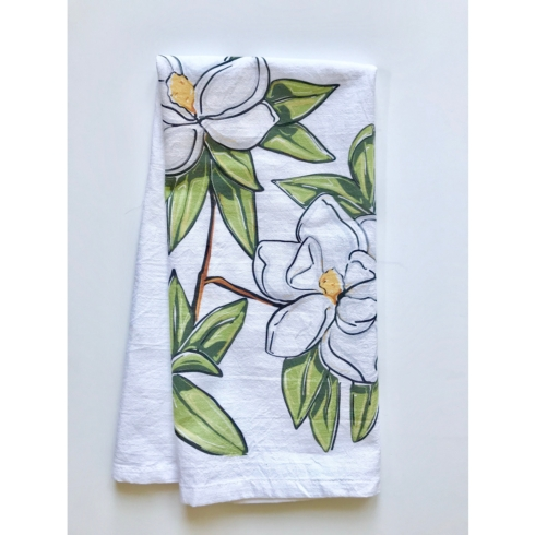 $17.00 Home Malone Magnolia Tea Towel