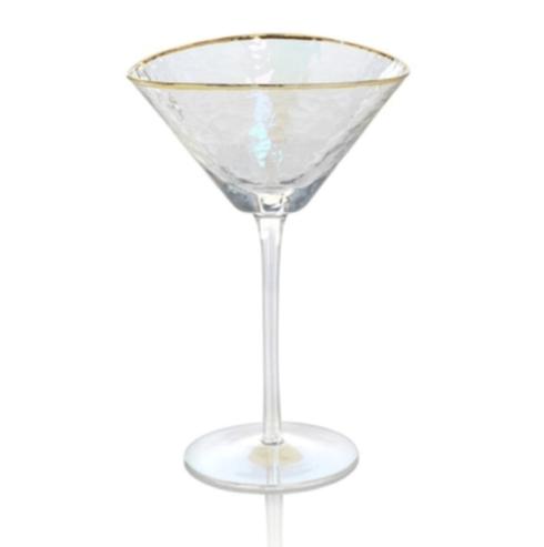 Zodax   Aperitivo Triangular Martini Glass w/Gold Rim $15.25