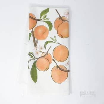 $17.00 Home Malone Peach Tea Towel