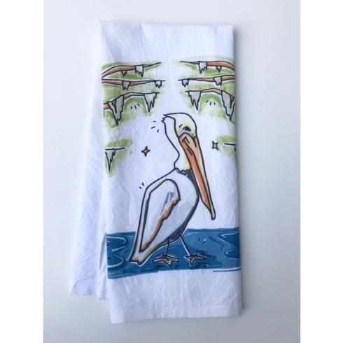 $17.00 Home Malone  Pelican Tea Towel
