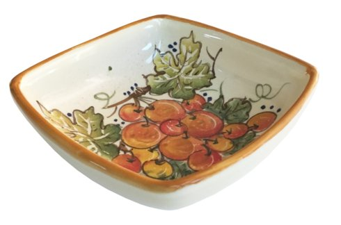 "Vineyard Red Grapes - Square Bowl 5.5"" x 5.5"""