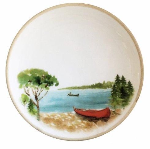 "$190.00 Canoe Salad/Dessert Plates 8""d  (set of 6)"
