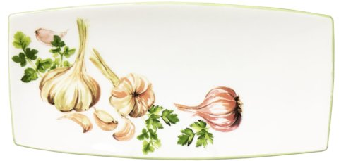 "Abbiamo Tutto  Garlic & Herb Garlic & Herb Small Rectangle tray  10"" x 5"" $48.00"