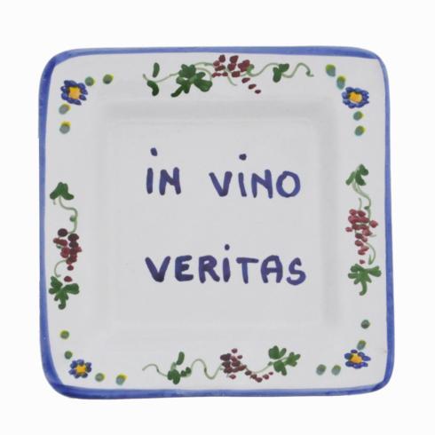 "$25.00 Square 5"" x 5"" - In Vino Veritas (min.4) In wine there is truth"