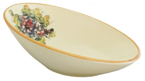 $88.00 Vineyard Purple Grape Large Oval Bowl 14
