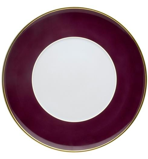 $25.00 Dinner Plate Burgundy and Gold
