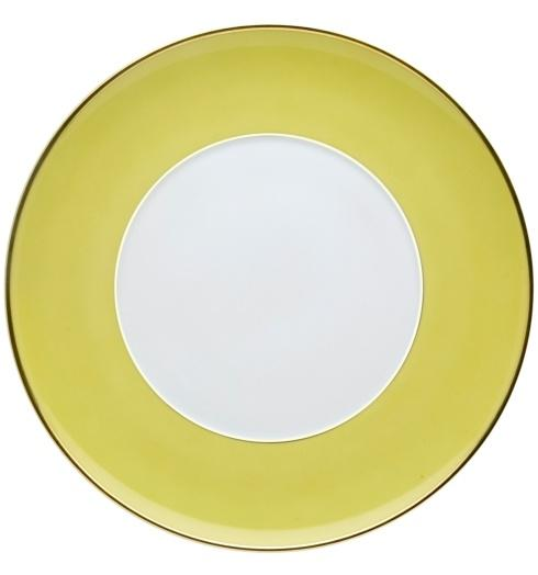$25.00 Dinner Plate Green and Gold