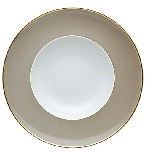 $25.00 Soup Plate Grey and Gold