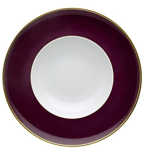 $25.00 Soup Plate Burgundy and Gold