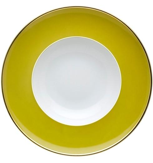 $25.00 Soup Plate Green and Gold