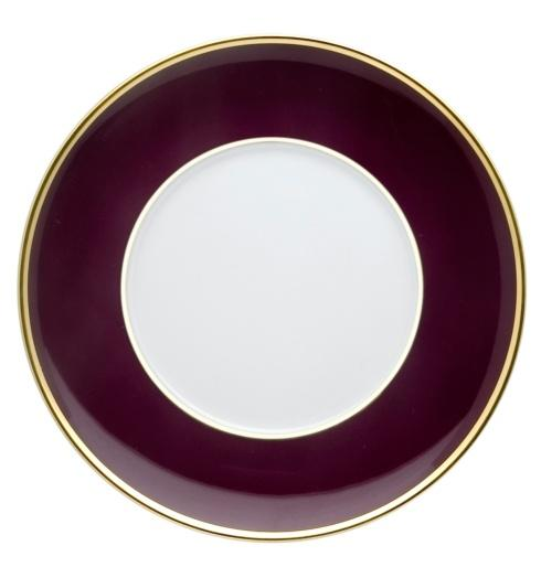 $40.00 Bread & Butter Plate Burgundy and Gold