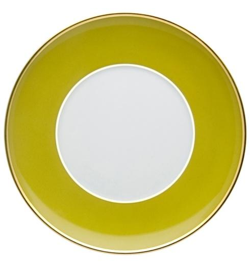 $20.00 Bread & Butter Plate Green and Gold