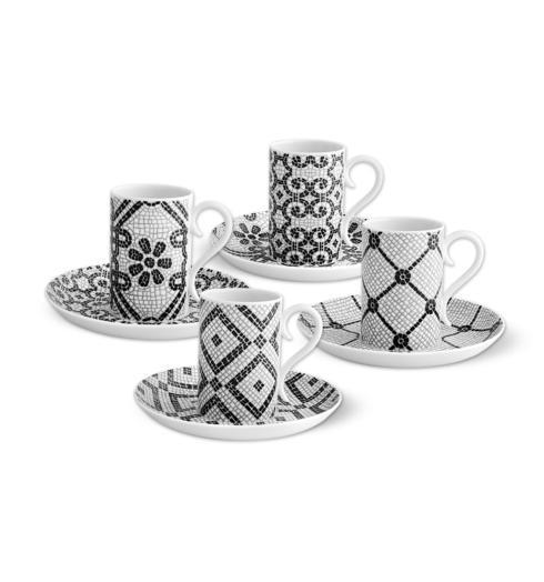 $138.00 Set 4 Coffee Cups & Saucers